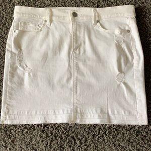Ann Taylor Loft white denim skirt size 31/12